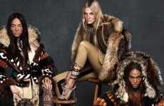 Wolf Pack Fashion Ads - The DSquared2 Campaign Stars Fei Fei Sun, Caroline Trentini and Joan Smalls