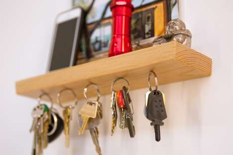 Magnetic Key Racks - 'Rackless' is a Minimalist Magnetic Key Holder Built to Last