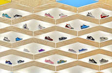 From Tunneled Sneaker Displays to Paper Store Shelving