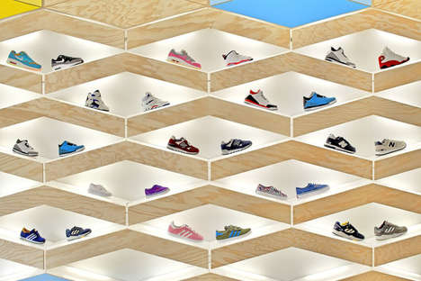 26 Visual Merchandising Innovations - From Tunneled Sneaker Displays to Paper Store Shelving