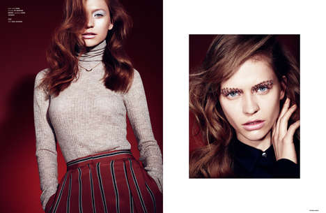 Daring Beauty Editorials - The Ones 2 Watch 'Heartbreaker' Story Experiments With Eyebrow Piercings