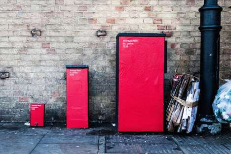 Awareness-Raising Street Graphs - Urban Fixtures are Transformed to Depict London's Housing Crisis
