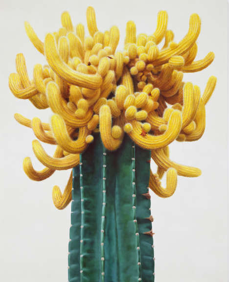 Hyperrealistic Cacti Paintings - Kwang Ho Lee's Exotic Plant Art Could be Mistaken for Photographs