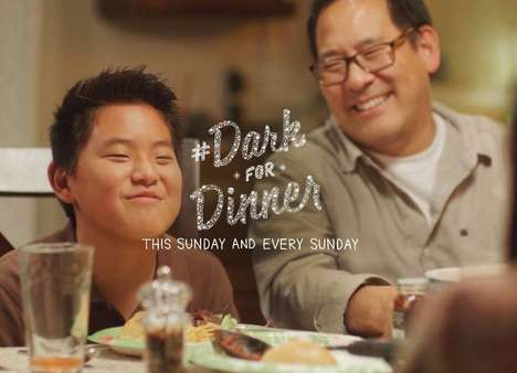 Phone-Ditching Dinner Ads - Dixie's Dark for Dinner Campaign Encourages In-Person Connections