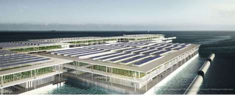Smart Floating Farms - An Automated Offshore Food Platform is Conceived to Address Future Shortages