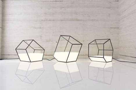 Polygonal Lamp Designs - Nissa Kinjalina's Light Fixtures Boast a Geometric and Transparent Design