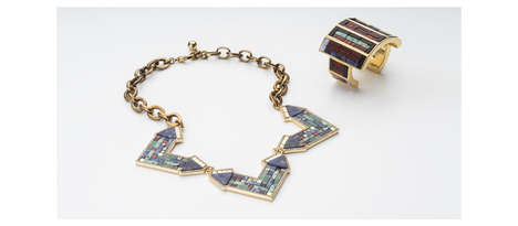 Mosaic Jewelry Collections - The Lulu Frost 'Tesserae' Range Features Exotic and Artistic Pieces
