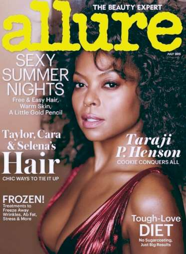 Ultra Glam 70s Editorials - Taraji P. Henson Embraces Vintage Fashion in the Latest Issue of Allure