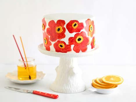 Fashionably Patterned Desserts - Sprinkle Bakes' Poppy Seed Cake Pays Homage to Marimekko