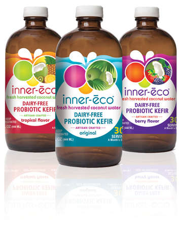 Kefir-Infused Coconut Water - Inner-Eco's Probiotic Coconut Water Cultivates Good Health