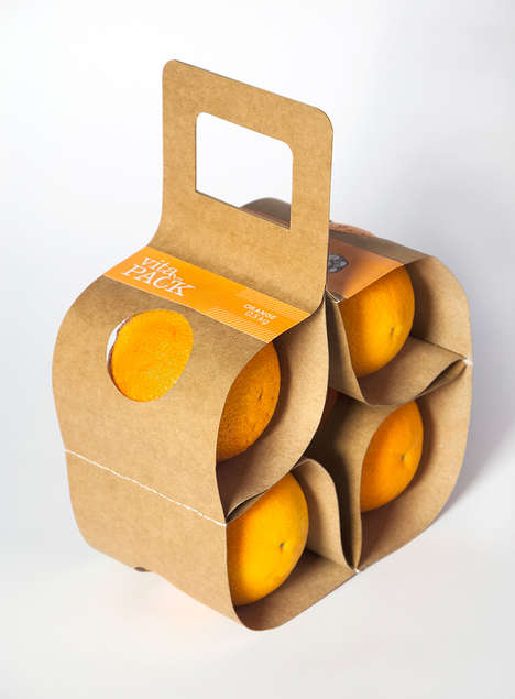 Eco Orange Packaging - This VitaPack Fruit Carrier Boasts a Collapsible and Sustainable Design