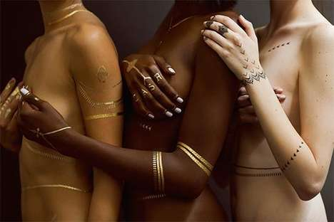 Singer-Inspired Flash Tattoos - Rihanna Teams Up with Jacquie Aiche to Create a Line of Temp Tattoos