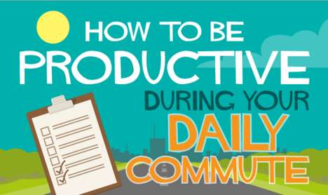 Productive Commute Guides - This Infographic Offers Ways to Make the Most of Time Spent Commuting