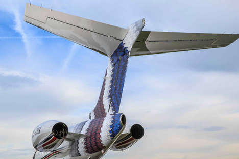 Art-Adorning Airplanes - This Jet Features an Enlarged Version of 'Timorous Beasties' Artwork