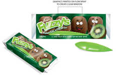 Clever Kiwi Branding - These Kiwi Snack Packs Include Personified and Animated Graphics