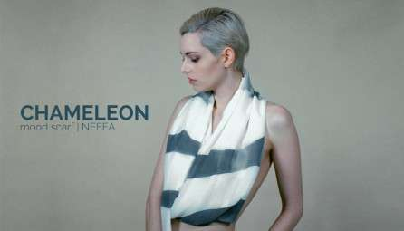 Color-Shifting Scarves - The 'Chameleon Mood Scarf' Changes Based on Mood, Light and Temperature