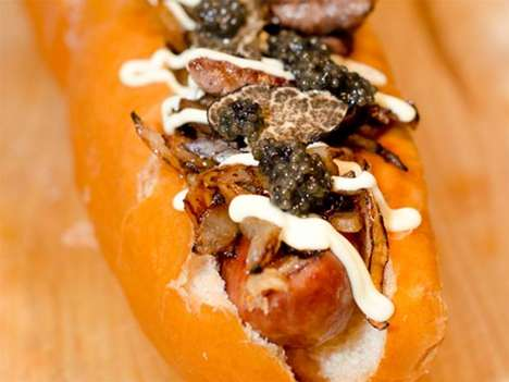 Pricey Street Meat Meals - The World's Most Expensive Hot Dog Boasts Caviar and Fois Gras Flavors