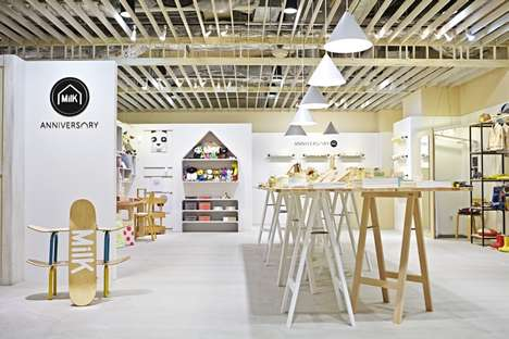 Children's Magazine Pop-ups - The ANNIVERSARY MiLK Pop-up Shop is Designed for Kids