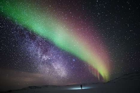 Starlight Self-Portraits - Photographer Tiina Tormanen Takes Self Portraits Beneath Northern Lights