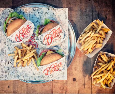 Anti-Fast Food Burger Branding