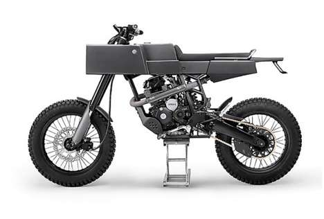 Boxy Industrial Motobikes - The Yamaha Scorpio by Thrive Motocycles is Made for Mad Max