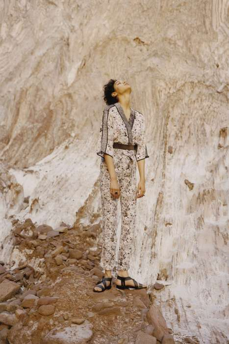 Achromatic Desert-Inspired Fashion - The Kenzo Resort Collection Features Hot Looks in Minimal Color
