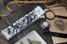 Seafaring Grooming Kits - The Brooklyn Grooming Beard Balm Sampler Boasts Mythical Branding