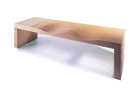 Sand Dune Seating - The Nurus Taklamakan Bench is Inspired by Chinese Landscapes
