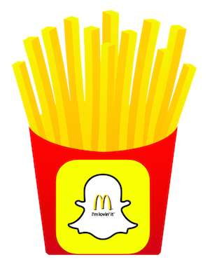 French Fry Photo Filters - McDonald's & Snapchat Launched a Series of Food-Decorated Photo Filters