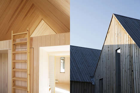 Compartmentalized Family Cabins - These Miniature Cabins Combine Three Rooms in One Single Structure