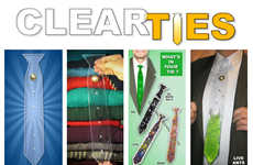 Customizable Clear Neckties