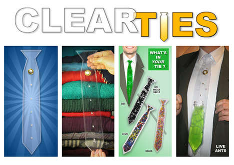 Customizable Clear Neckties - Using Vinyl, Clear Ties Let You Create a Completely Custom Necktie