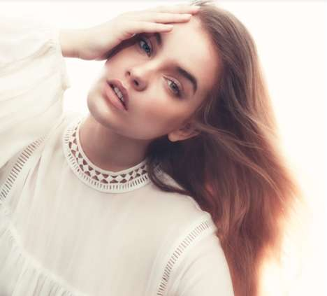 Ethereal Beauty Editorials - The Barbara Palvin ELLE Sweden Cover Shoot is Brightly Romantic