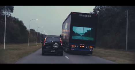 TV-Fitted Trucks - The Samsung Safety Truck Lets Drivers Behind See the Road Ahead