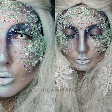 Elaborate Makeup Art - Jordan Hanz Creates Incredibly Looks that Enchant and Frighten
