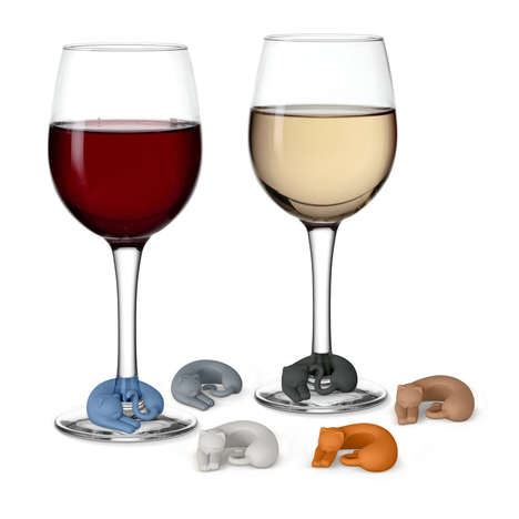 Kitty-Themed Wine Markers - The 'Wine Lives' Wine Markers Help Claim Your Glass with Cats