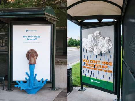 Handmade Conservation Ads - The 'Use Only What You Need' Water Campaign Uses Hand-Crafted Ads
