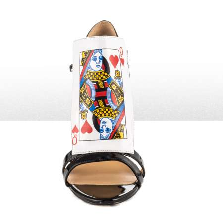 Playing Card Pumps - The Taylor Says 'Decklan' Sandals are Fit for Gambling Girls