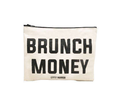Budgeting Brunch Pouches - The Brunch Money Pouch Reminds Us of the Important Things in Life
