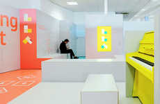 Energetic Airport Makeovers - London's Luton Airport Recently Received a Pastel-Hued Rebrand