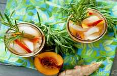 Rosemary Peach Green Teas - This Alternative Iced Tea Recipe Incorporates Bold New Flavors