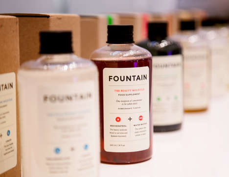 Scientific Beauty Supplements - Fountain is a Range of Drinks That Inspire Health and Beauty