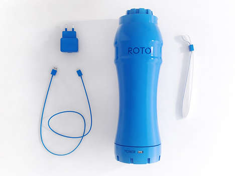 Motor-powered Fitness Bottles - The ROTO Eliminates Lumps from Post-Workout Shakes