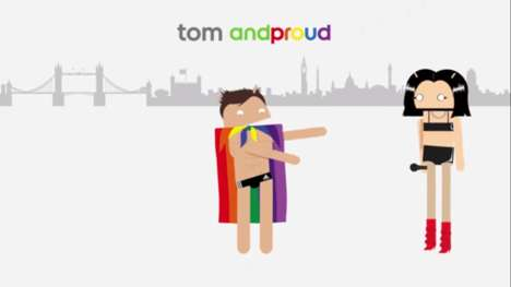 Animated LGBT Campaigns - Android's 60-Second Ad Features Celebrities for World Pride Month
