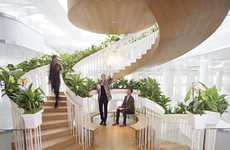 Spiraling Living Staircases