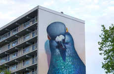 Giant Pigeon Graffiti