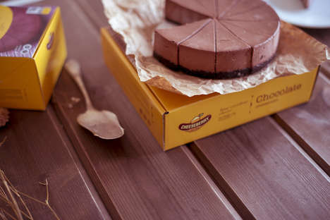 Americana Cheesecake Branding - This Russian Dessert Brand Features New York-Inspired Packaging