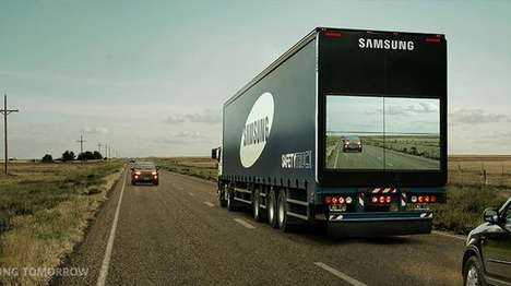 Transparent Trucks - Samsung's Safety Truck Offers Motorists a View of Oncoming Traffic