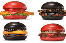 Chromatic Samurai Burgers - Burger King Japan Introduces Colorful Red and Black Burgers