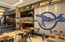 Oceanic Food Court Eateries - This Fast Casual Eatery Depicts Freshness Through Interior Design
